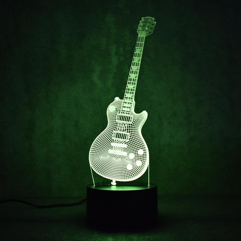 Guitar Multi-Color 3D Lamp