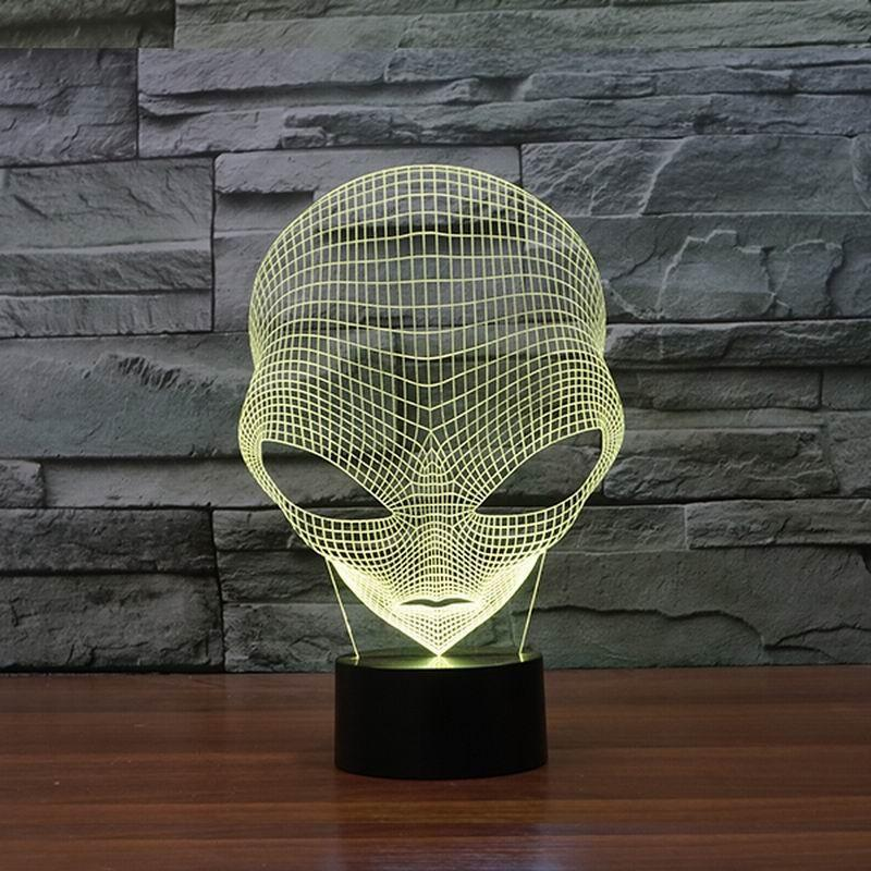 Alien Multi-Color 3D Lamp