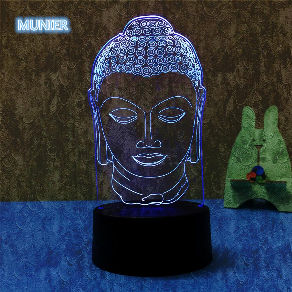 Buddha Ascension Multi-Color 3D Lamp