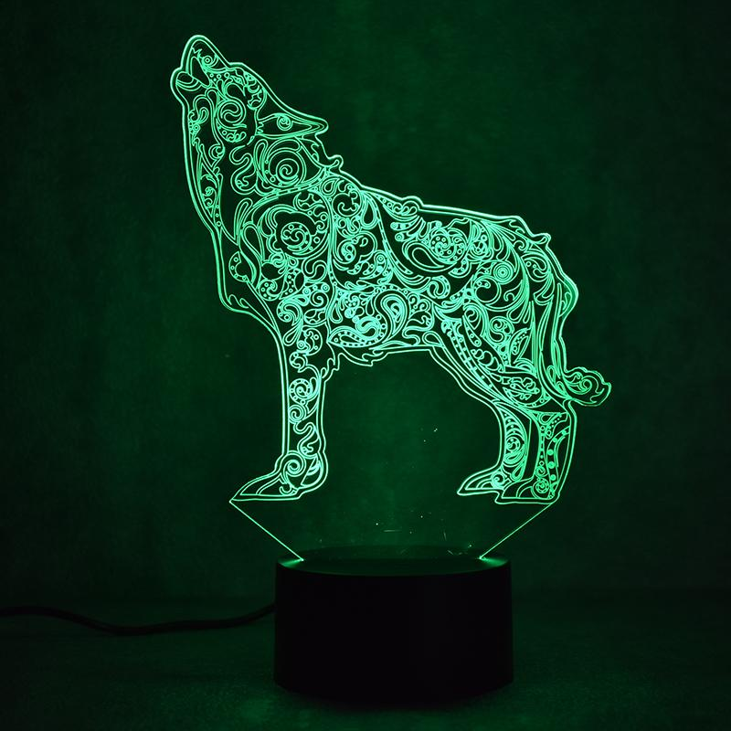 Wolf Divine Multi-Color 3D Lamp