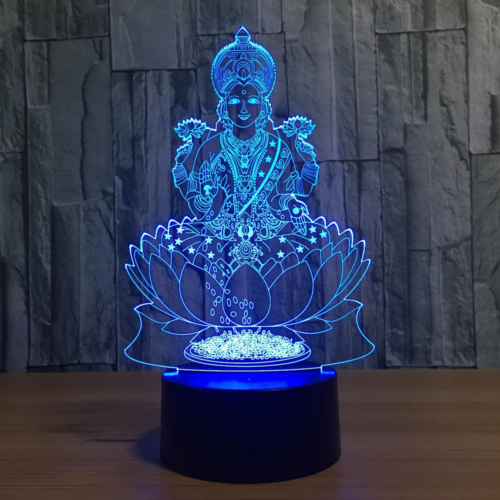 Buddha Lotus Multi-Color 3D Lamp