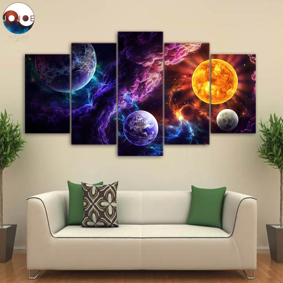 Plan of Salvation by JoJoesArt 5-Piece Galaxy Canvas Painting