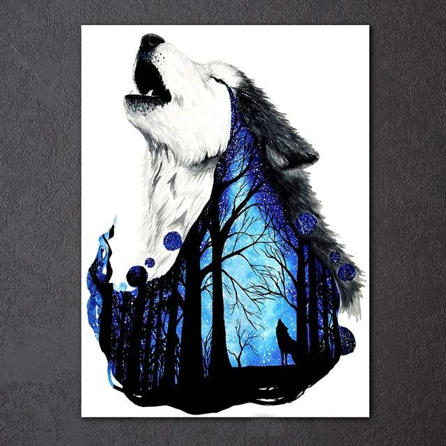 Wolf Forest by Scandy Girl 1-Piece Canvas Painting