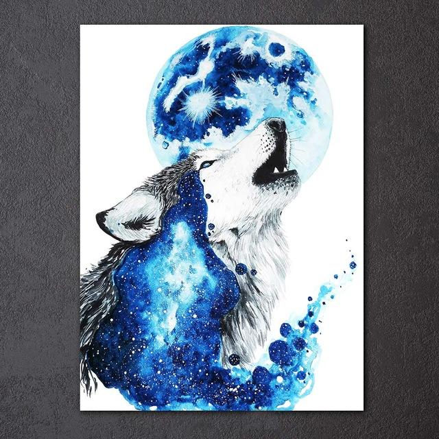 Wolf Moon by Scandy Girl 1-Piece Canvas Painting
