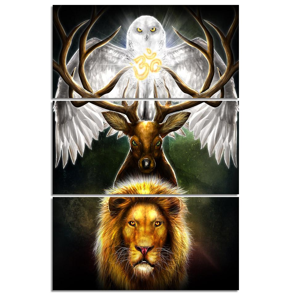 Leaders of the Earth by KhaliaArt 3-Piece Canvas Painting