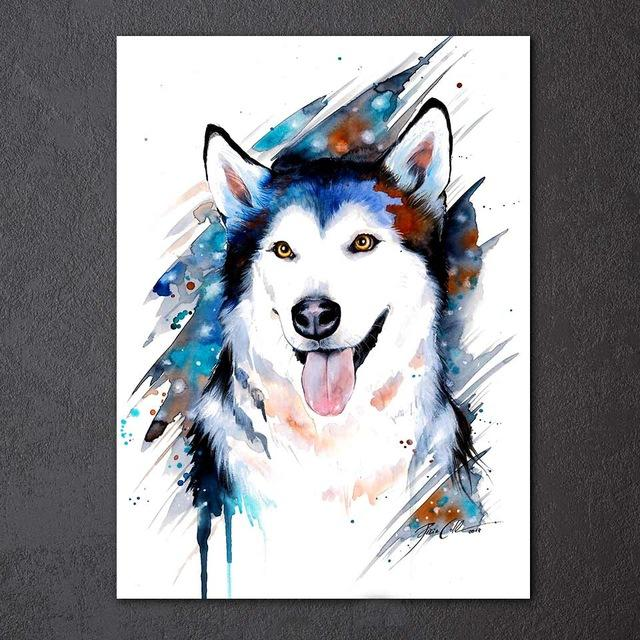 Wolf by Pixie Cold 1-Piece Canvas Painting