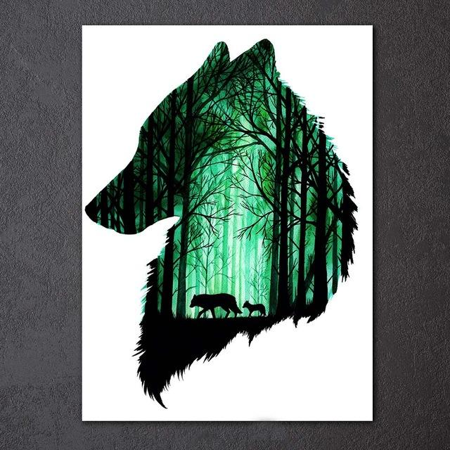 Wolf Night by Scandy Girl 1-Piece Canvas Painting