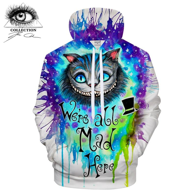 We Are All Mad Here by PixieColdArts (3D Hoodie)