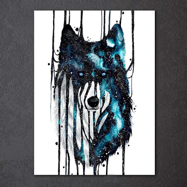 Wolf Abstract by Scandy Girl 1-Piece  Canvas Painting