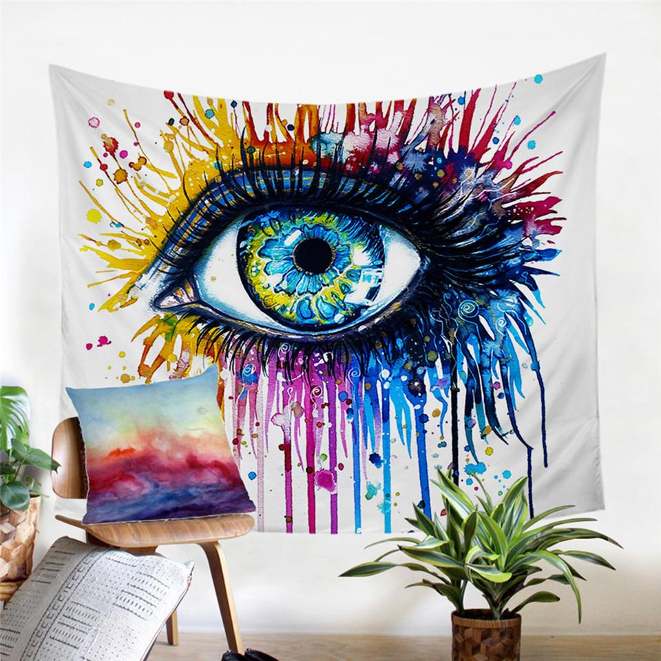Rainbow Fire by Pixie Cold Eye Tapestry
