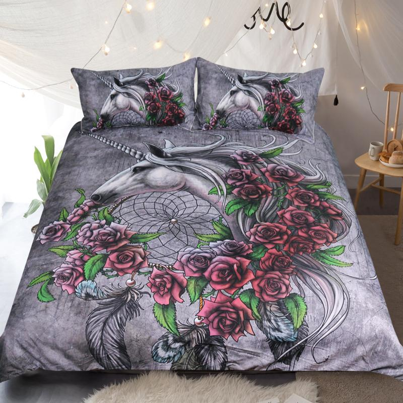 Unicorn Dreamcatcher by Sunima-MysteryArt Bedding Set