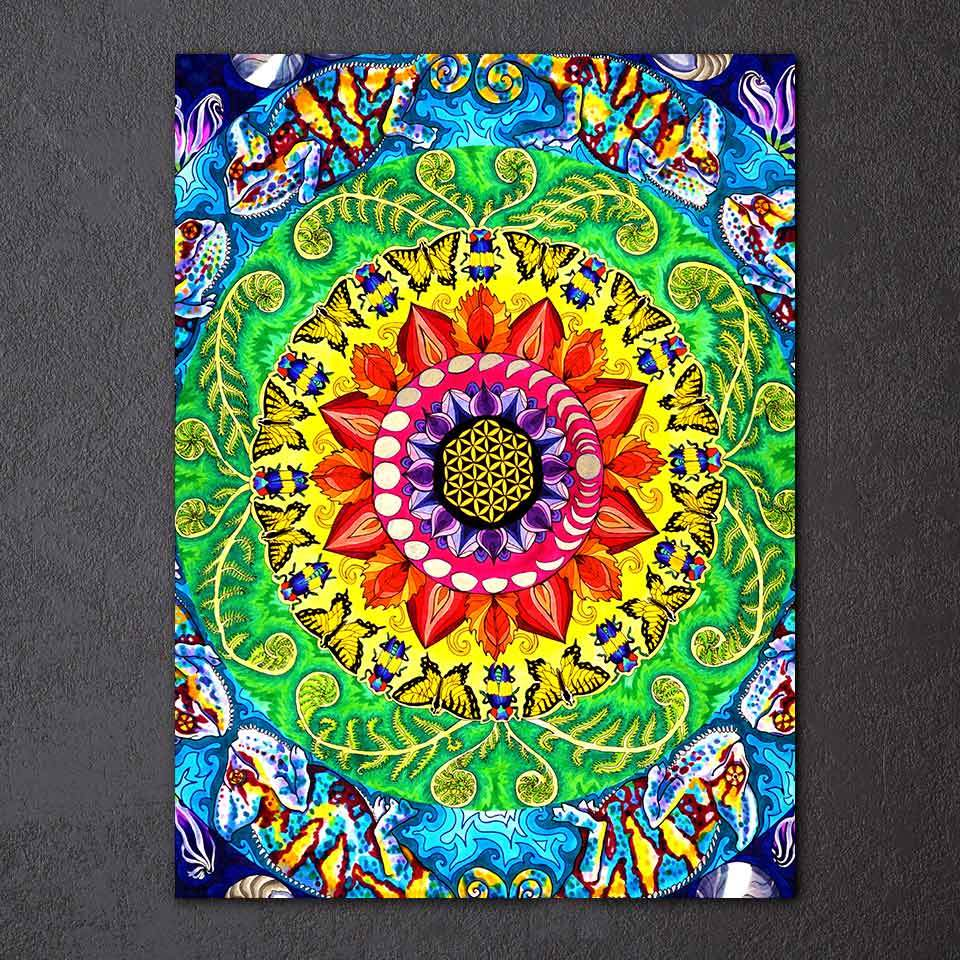 Samsara Mandala by Rachel Rosenkoetter 1-Piece Canvas Painting