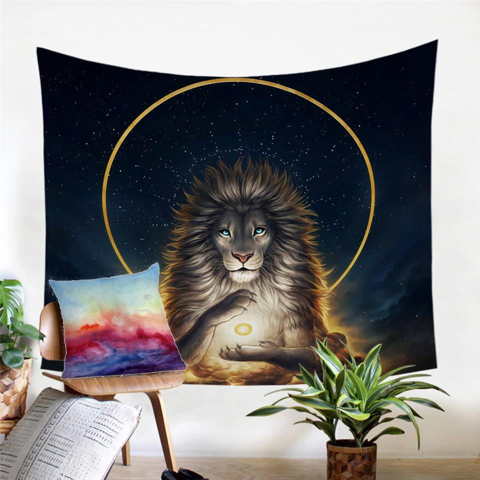 Soul Keeper by JoJoesArt Lion Tapestry