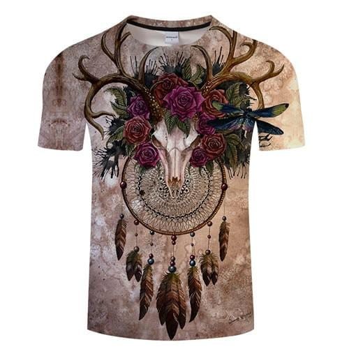 Skull Dreamcatcher By SunimaArt Native Shirt