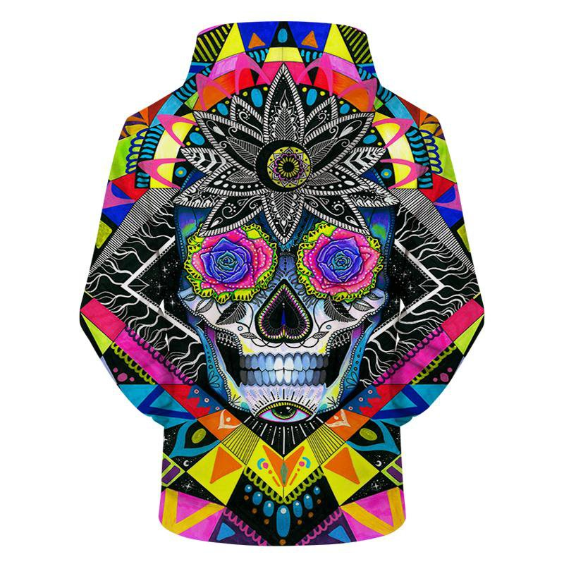 Sugar Skull by Pixiecold (3D Hoodie)