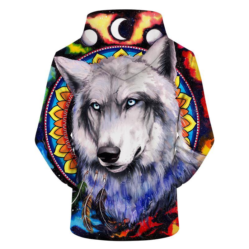 Wolf Galaxy by Pixiecold (3D Hoodie)