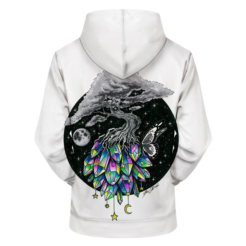 Crystal Tree By Pixiecold (Yoga 3D Hoodie)