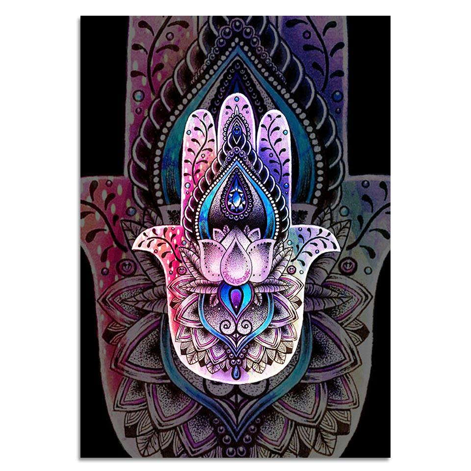 Hamsa By Brizbazaar 1-Piece Canvas Painting