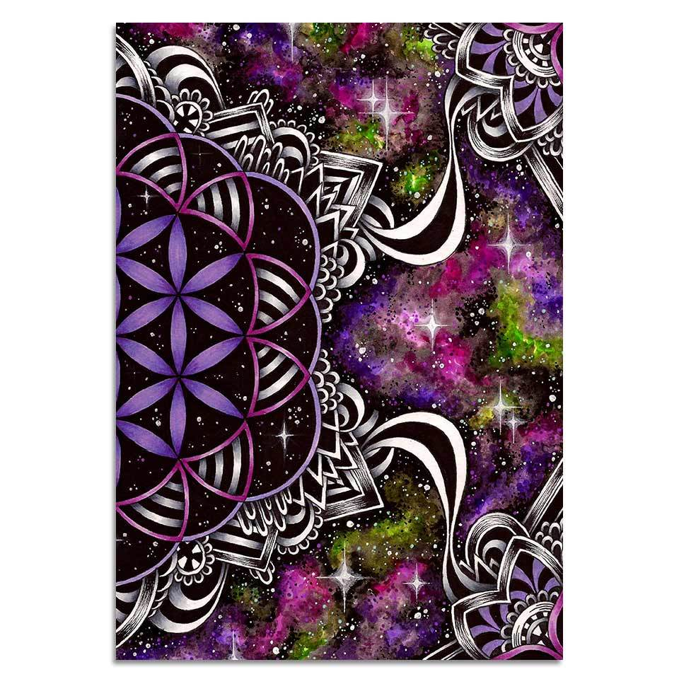 Flower of Life By Brizbazaar 1-Piece Canvas Painting