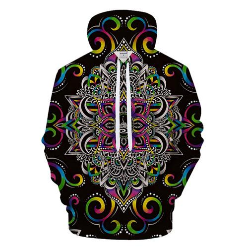 Harmony Magic By Brizbazaar (Mandala 3D Hoodie)