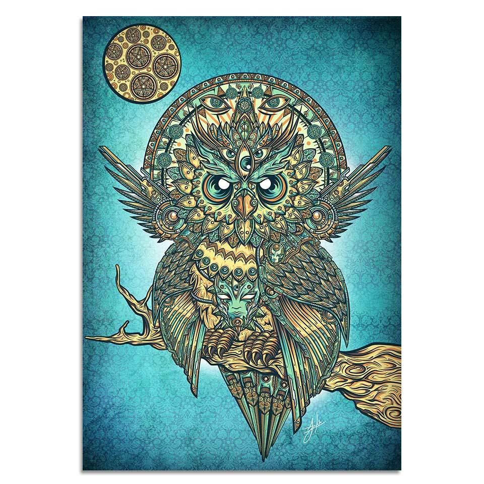 Buho Artsune By jml2arts 1 Piece Owl Canvas Painting