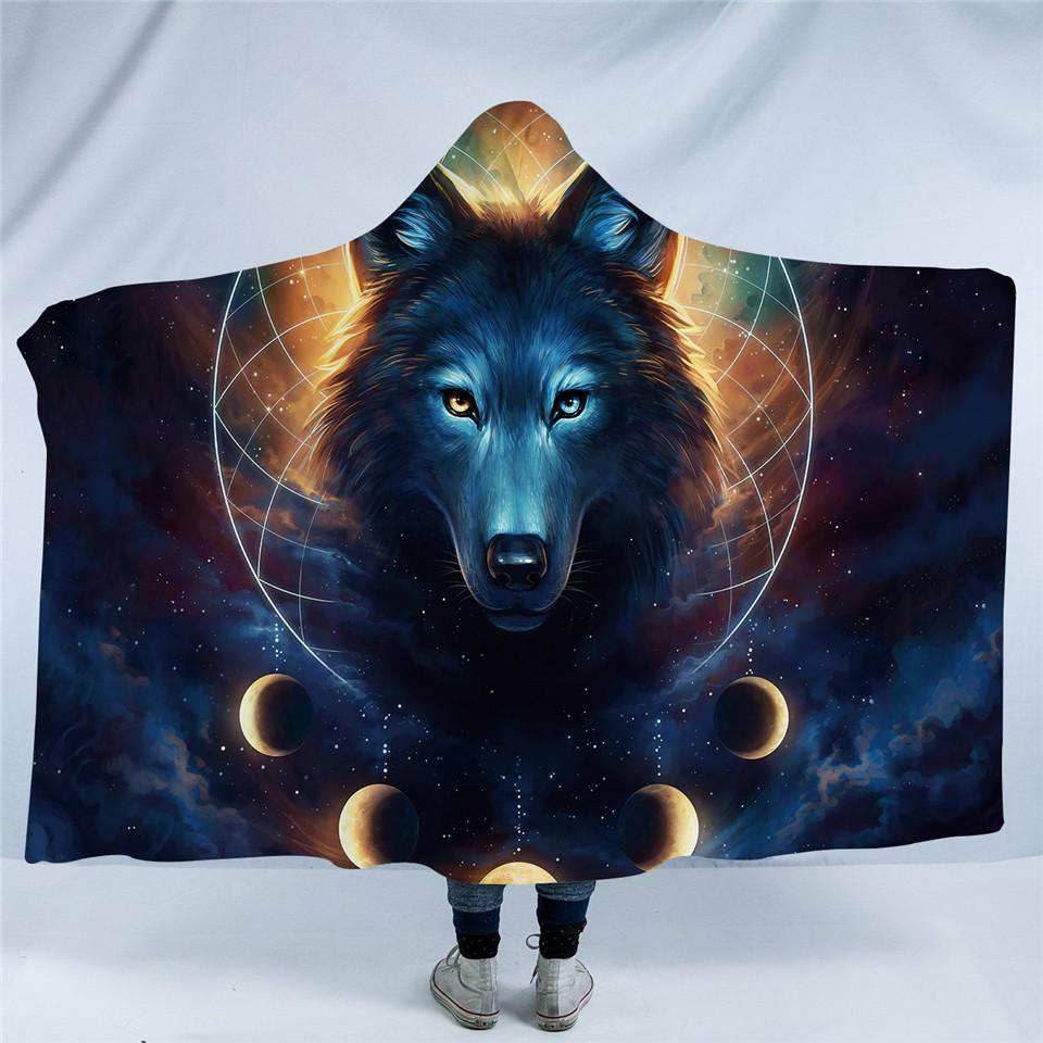 Dream Catcher by JoJoesArt (Wolf Hooded Blanket)