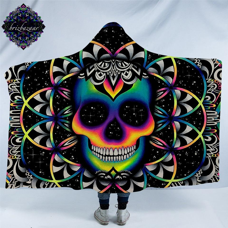 Chaos By Brizbazaar (Skull Hooded Blanket)