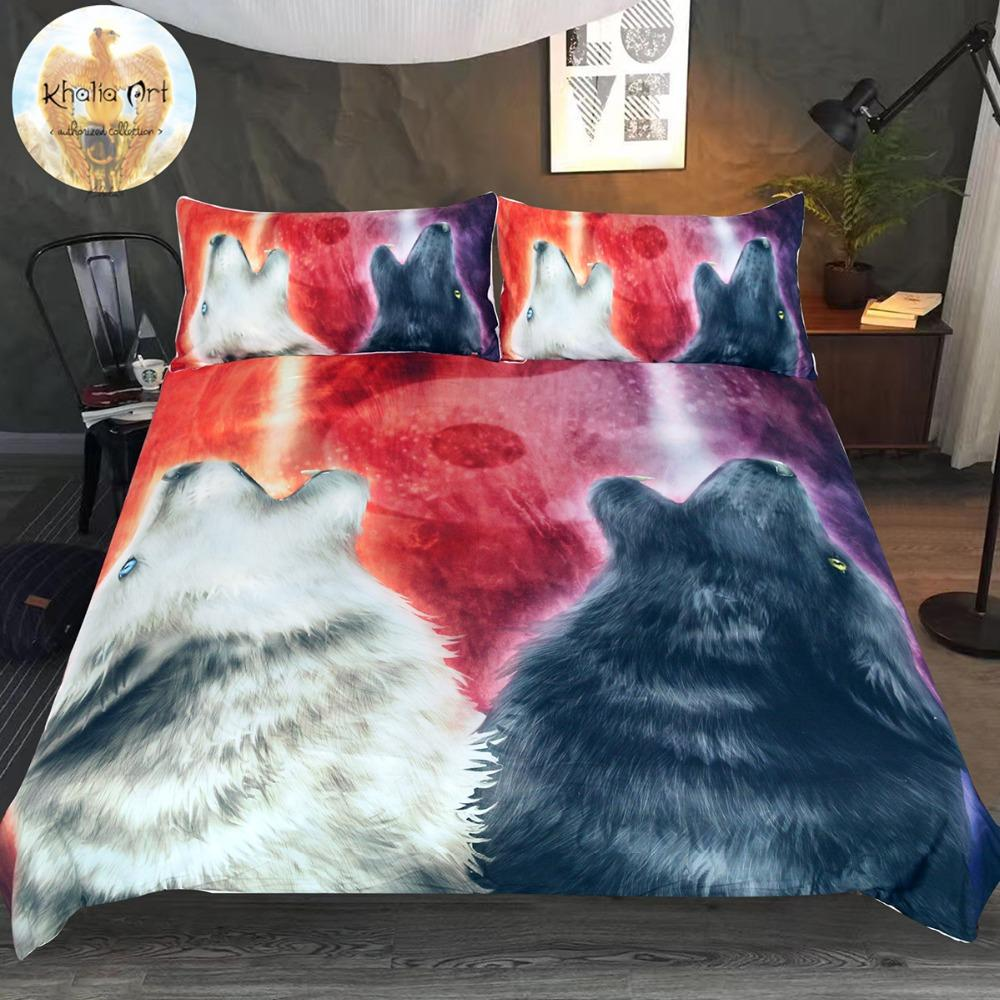 We Wanna Let The World Know by KhaliaArt Wolf Bedding Set