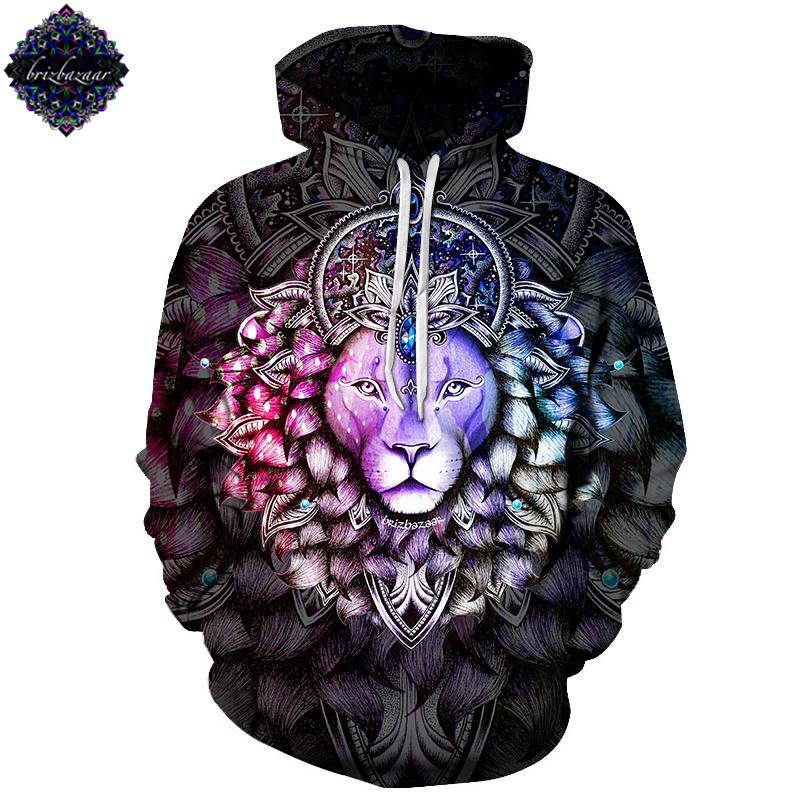 Leo.Color By Brizbazaar (Lion 3D Hoodie)