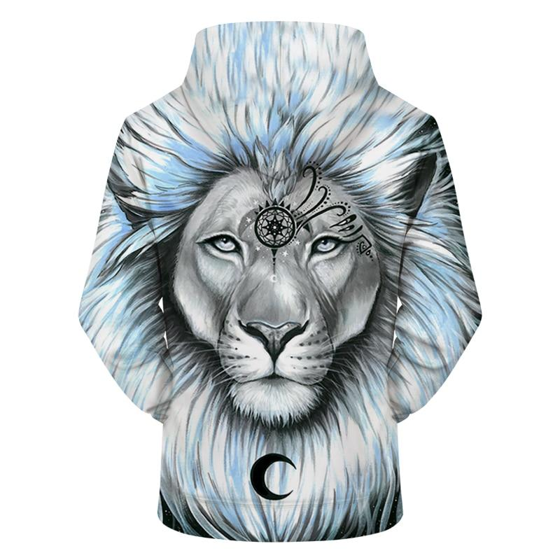 Lion&Galaxy by PixieColdArts (3D Hoodie)