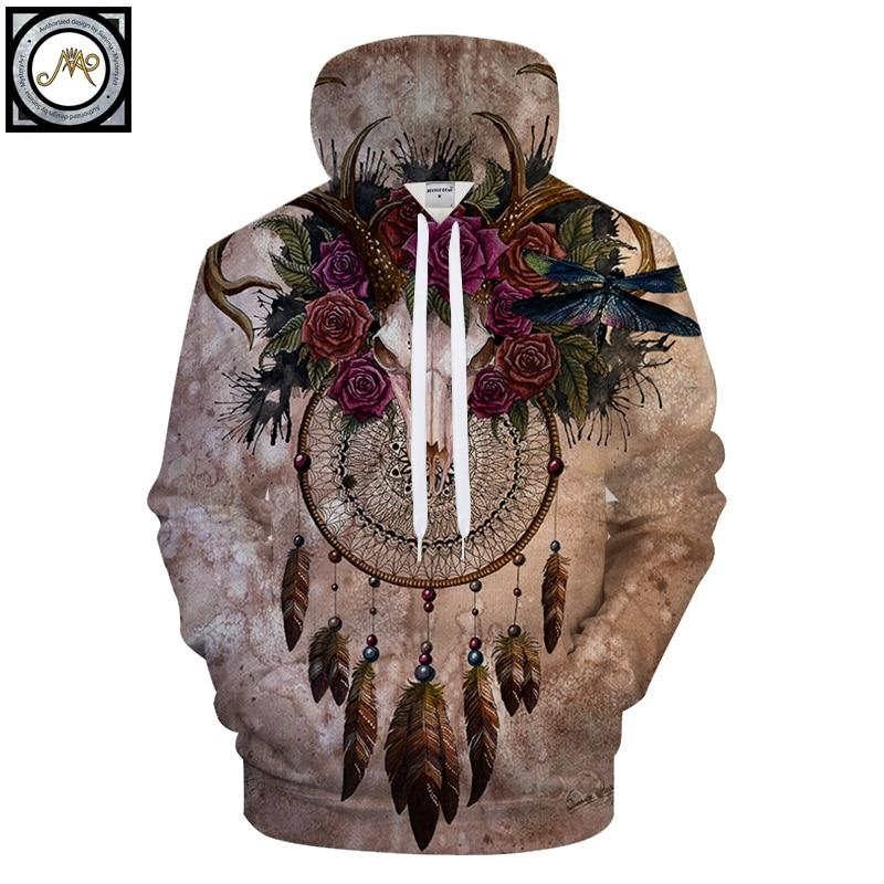 Skull Dreamcatcher By Sunima Art (Native 3D Hoodie)