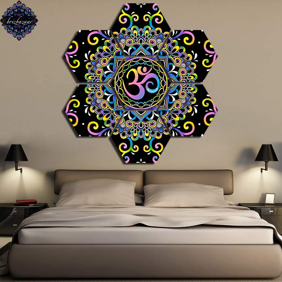 DoodleOhm by Brizbazaar (7 Piece Canvas Yoga Art)