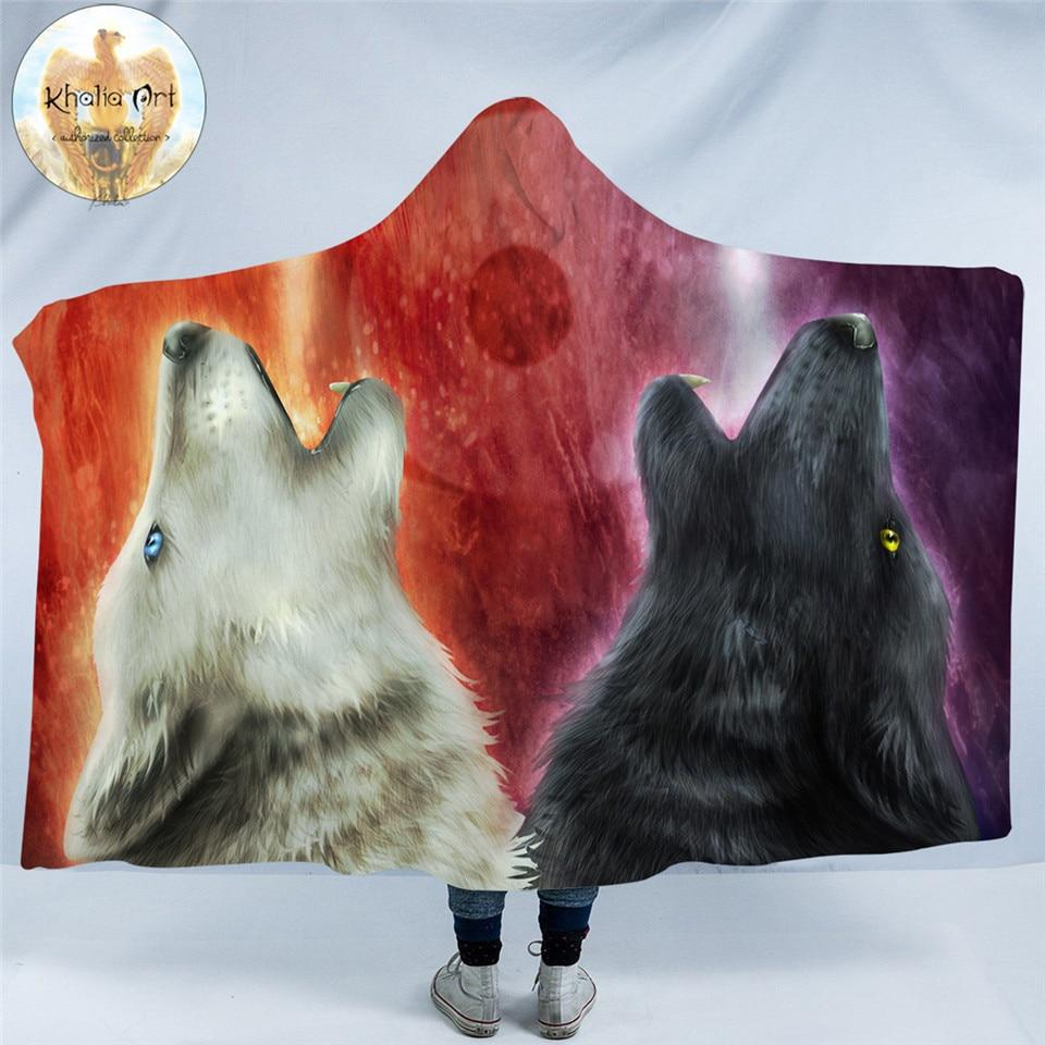 We Wanna Let The World Know by KhaliaArt (Wolf Hooded Blanket)