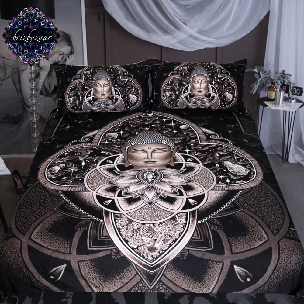 Cosmic Nirvana by Brizbazaar Buddha Bedding Set