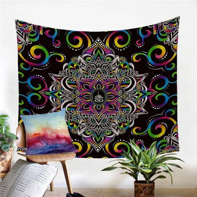 Harmony Magic by Brizbazaar Yoga Tapestry