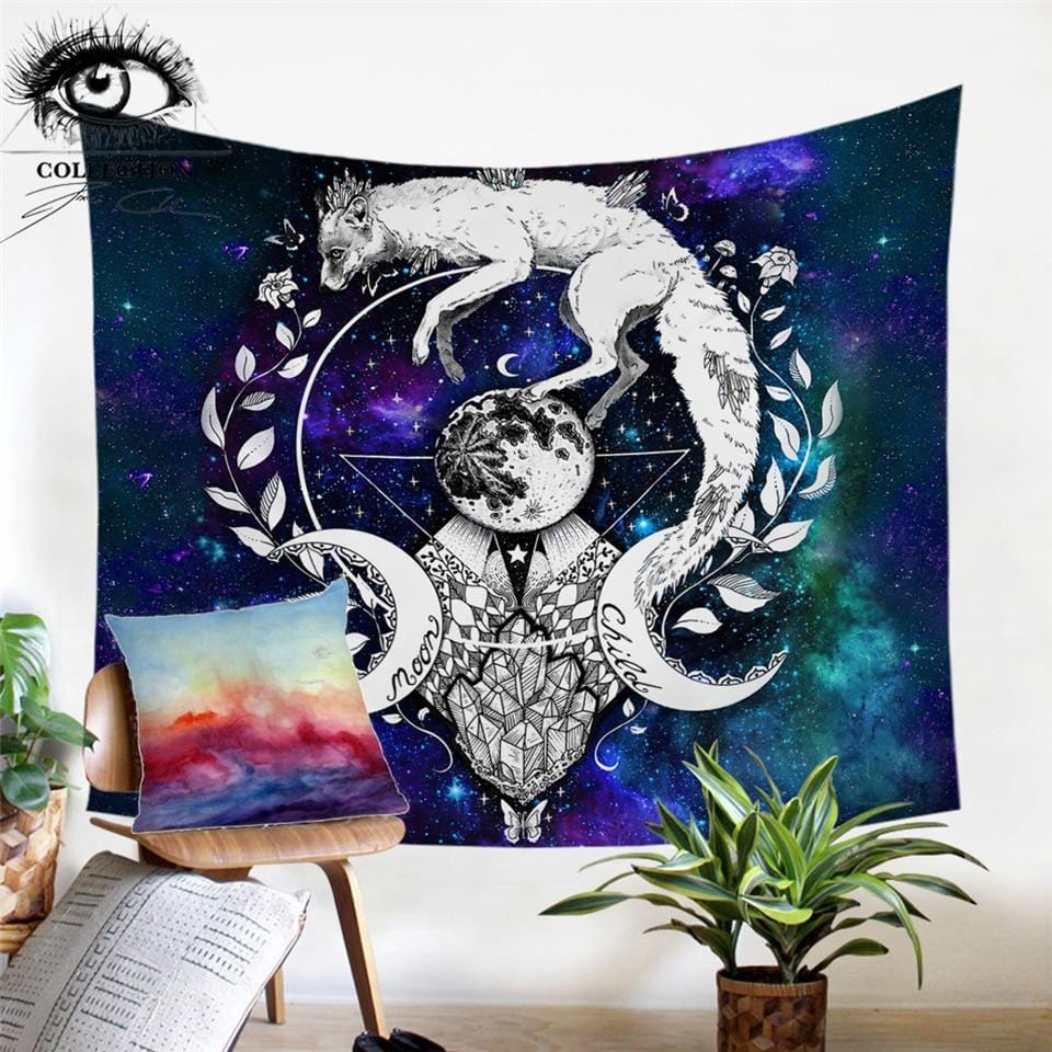 Wolf Galaxy by Pixie Cold Tapestry
