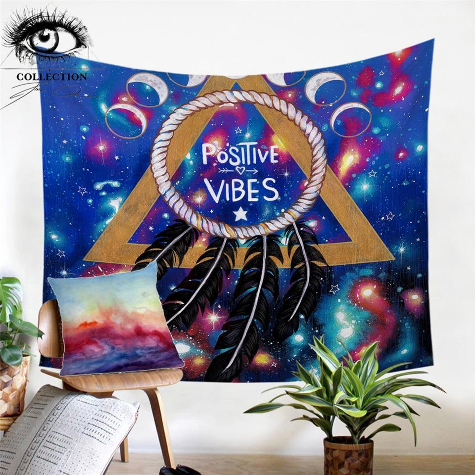 Positive Vibes Moon by Pixie Cold Tapestry