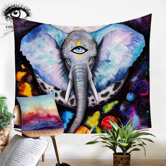 Alien Elefant by Pixie Cold Tapestry