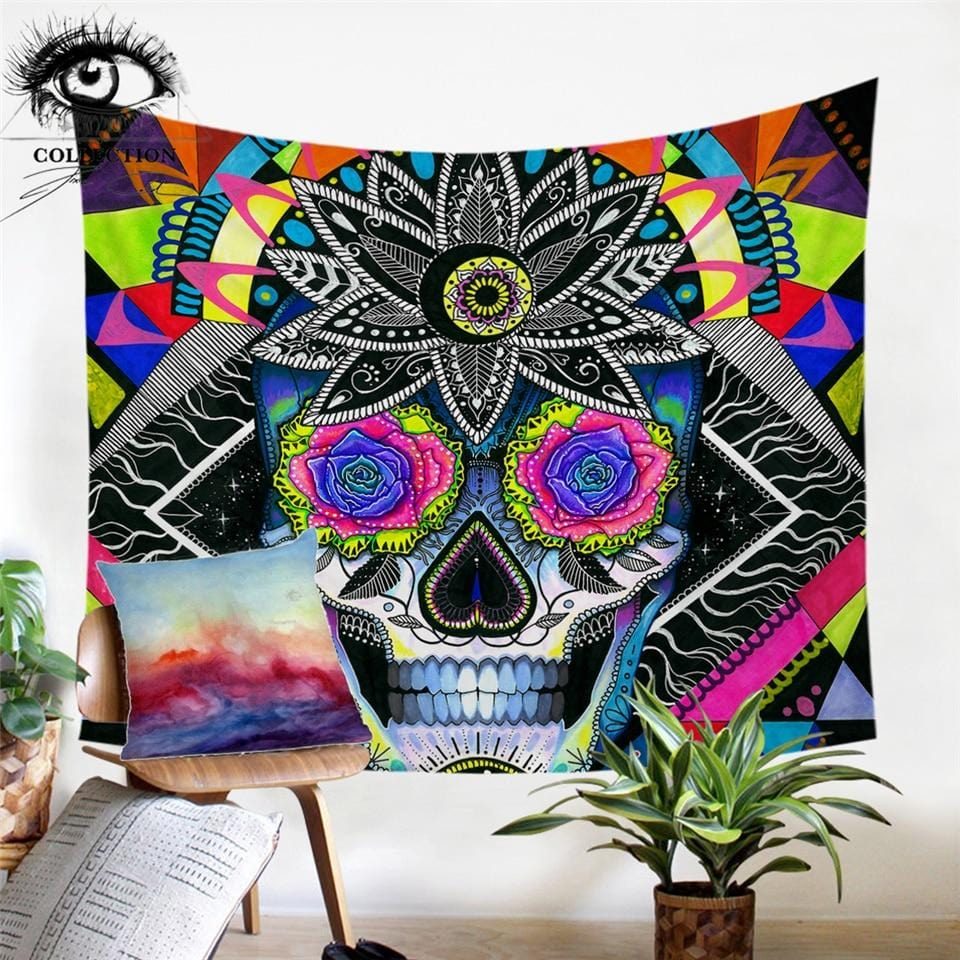 Sugar Skull by Pixie Cold Tapestry