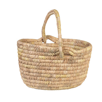 Oval Shopping Basket - Natural