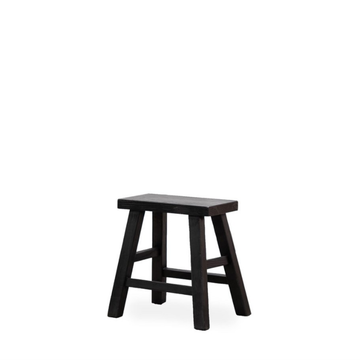 Parq Peasant Stool Rectangle - High/Black