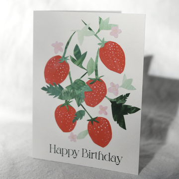 Wild Strawberries - Happy Birthday Card