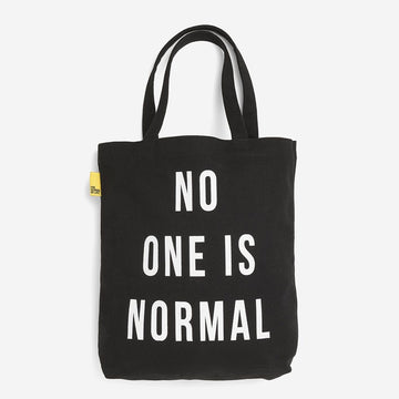 No one is normal tote - black