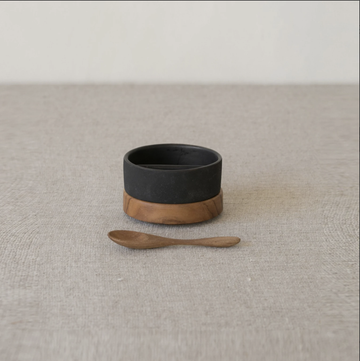 Rio Salt & Pepper Dish - Dark Ash