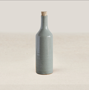 Narti Ceramic Bottle - Dove Green