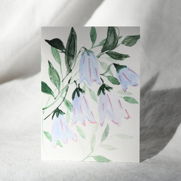 Painted Bellflowers Card