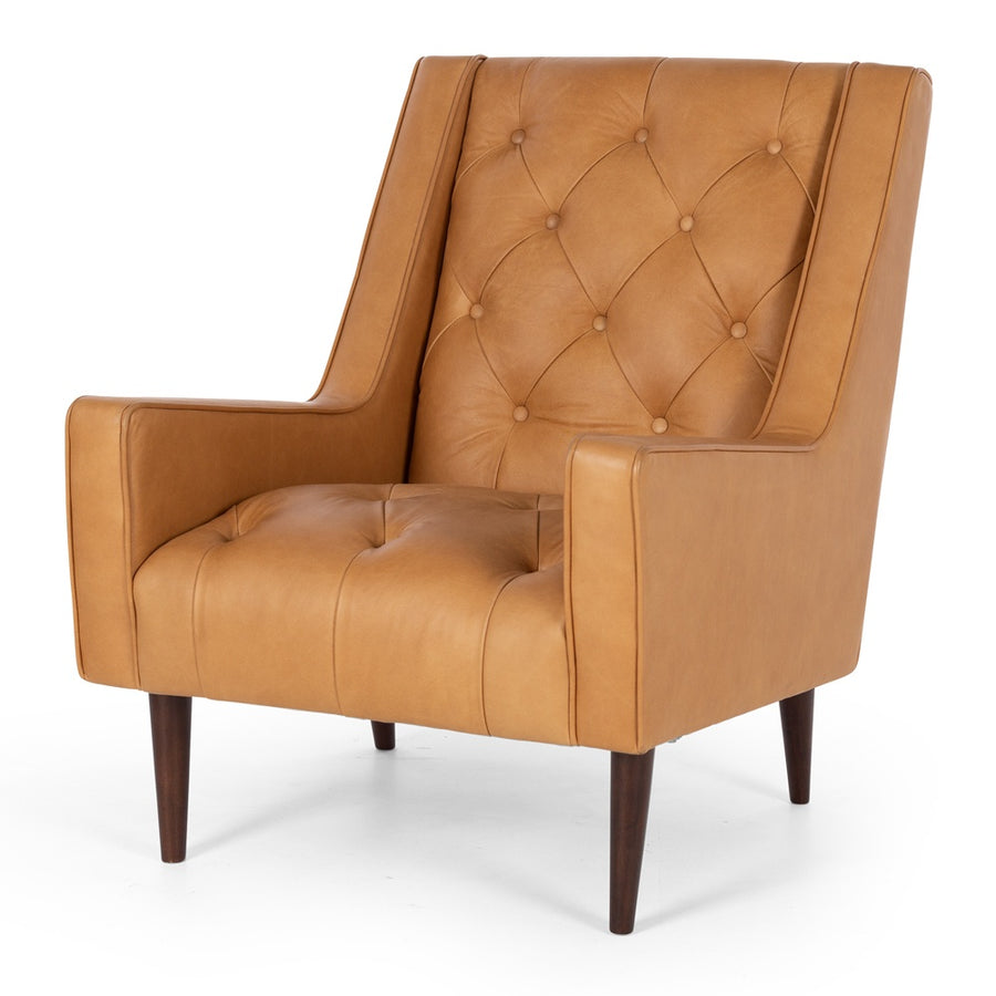 Waiwera Leather Armchair Tan Front