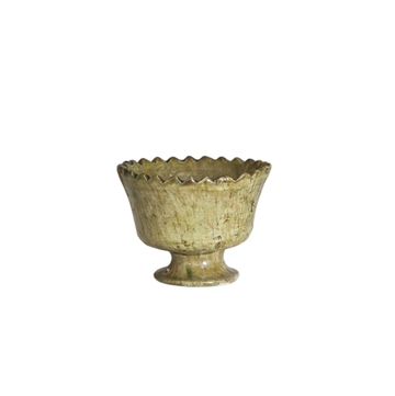 Earthenware Zig Zag Bowl - Mustard