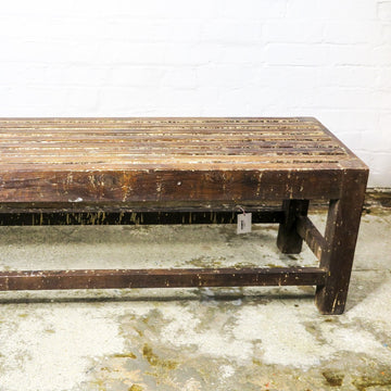 Wooden bench- slatted