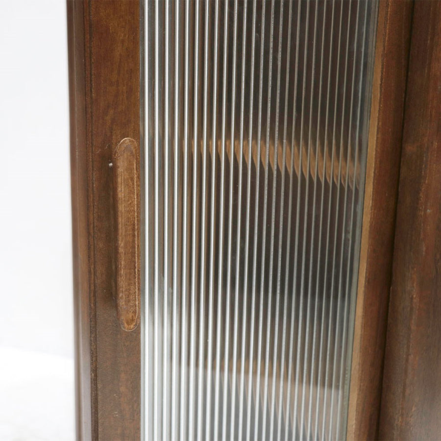 Taieri tall display cabinet glass door detail